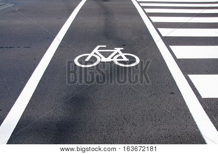The Way you can get Best Health Sign of Bike Lane in Osaka Japan