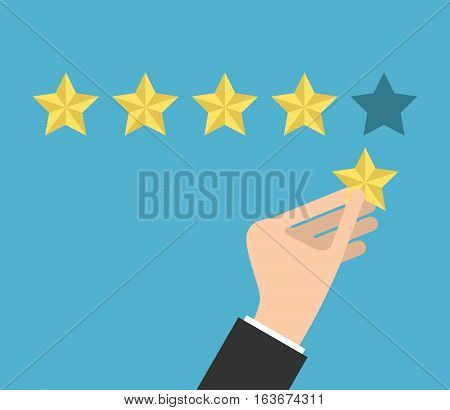 Hand Putting Fifth Star