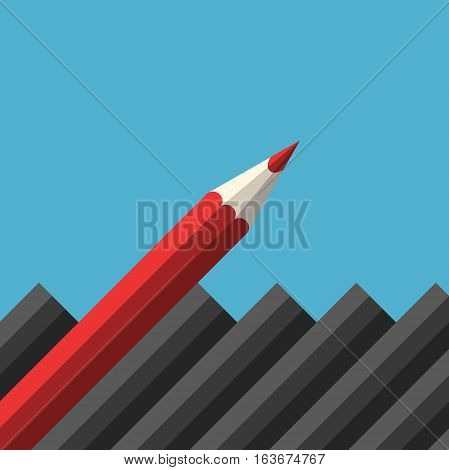 Unique Red Sharp Pencil