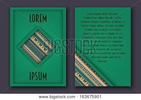 Invitation Card Set In Boho Style