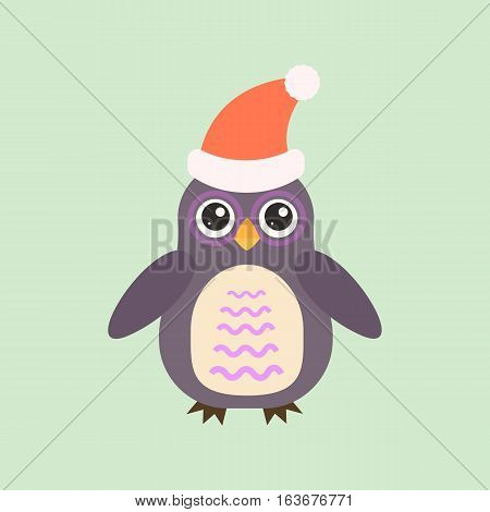 Cute modern vector bright cartoon owl expression. Animal character comic funny doodle behavior bird. Little colorful emotion humor eyes wide face.