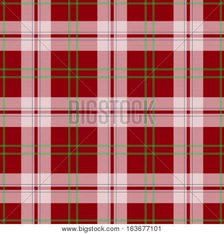 Vector abstract red tartan christmas seamless pattern, background.
