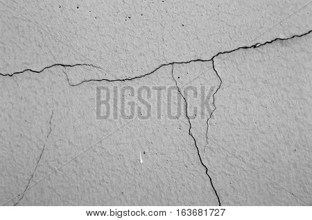 Closeup of a cracked wall for use as background