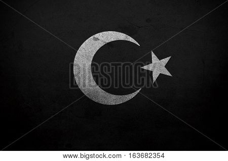 Turkish grunge Flag. A turkish flag with a grunge texture. Mourning