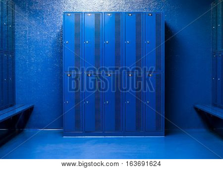Blue Room school lockers, security lockers, changing room in school