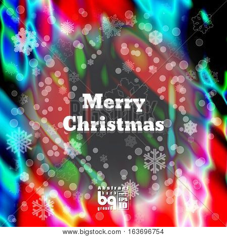 Background Merry Christmas. Flash light rainbow. Vector illustration. Bokeh effect. Colorful gradient. Abstract design