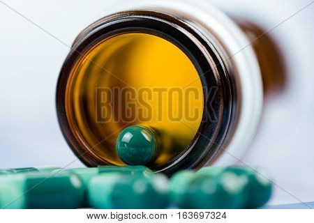 Capsule Pills close up macro high quality and high resolution studio shoot