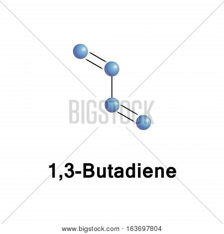 1,3-Butadiene is a simple conjugated diene with the formula C4H6. It is an important industrial chemical used as a monomer in the production of synthetic rubber.