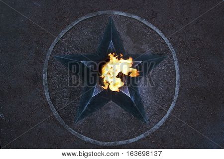 Eternal Flame - symbol of victory in World War II.