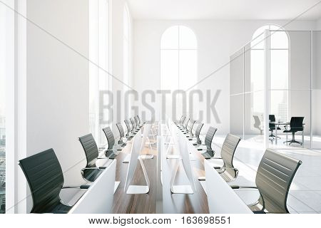 Boardroom Table Closeup