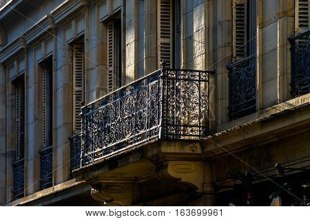Classic Balcony With Metal Art Grid In Strasbourg
