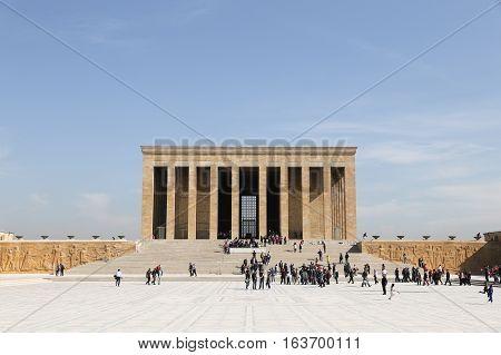 Anitkabir Mausoleum Of Mustafa Kemal Ataturk