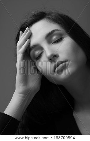 Depressed Woman Portrait