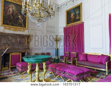 Versailles, France - June 2016: In the Grand Trianon in Versailles Palace