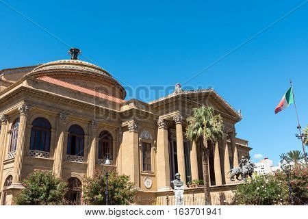 The famous Teatro Massimo in Palermo, Sicily