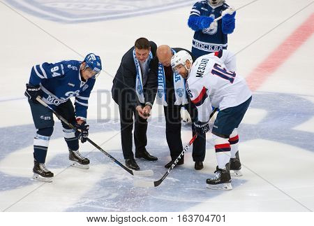 I. Bakhmutov And A. Belonozhkin On First Faceoff