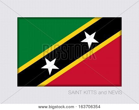 Flag Of Saint Kitts And Nevis. Rectangular Official Flag. Aspect Ratio 2 To 3