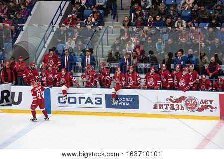 Vityaz Team On A Bench