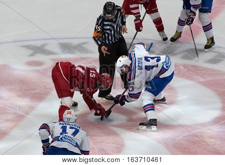 R. Horak (1) Vs P. Datsyuk (13) On Faceoff
