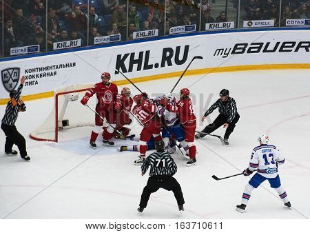S. Plotnikov (16) And A. Stepanov (30) Fight