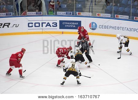 Y. Koksharov (27) And P. Chernov (53) On Faceoff