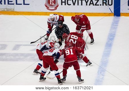 P. Kraskovsky (63) And A. Chernov (28) On Faceoff