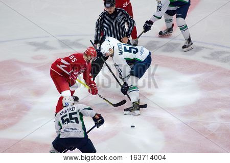 K. Mayorov (51) And M. Aaltonen (55) On Faceoff