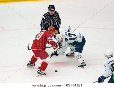 A. Kuryanov (17) And A. Chernov (28) On Faceoff