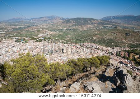 Aerial View Of Jaen City From Santa Catalina Mountain
