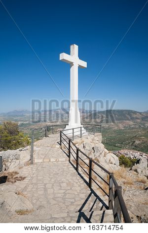 Great White Crucifix In Lookout Over Jaen