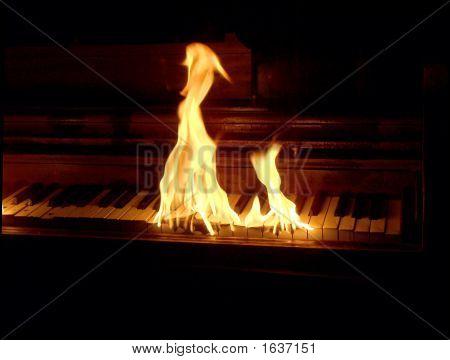 Flaming Piano