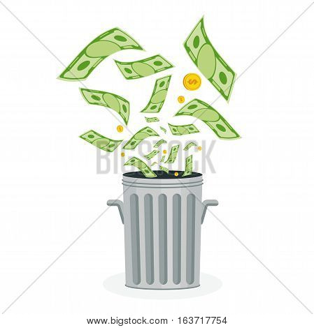 Money In Trash