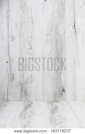 White Rustic Wooden Background