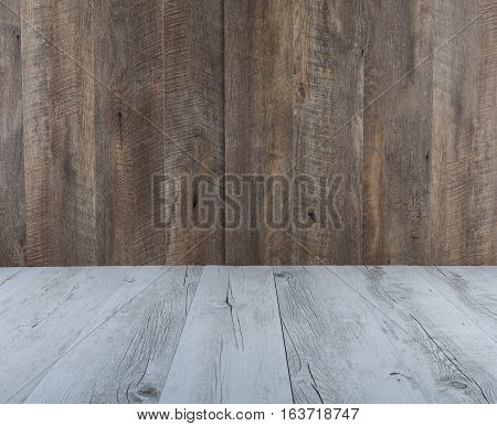 White Rustic And Brown Wood Table And Background