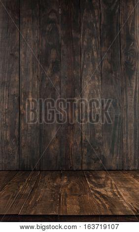Dark Brown Wooden Table