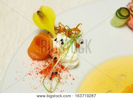 Orange Carrot Roll And Cream