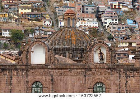 Detail of Cusco Cathedral in Cusco Peru South America