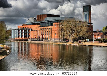 The Royal Shakespeare theatre in Stratford Upon Avon