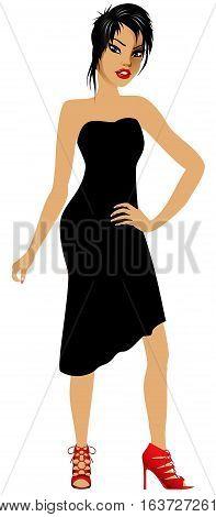 Asianwomanblackdress