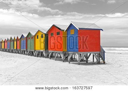 Beach huts is Cape Town, South Africa