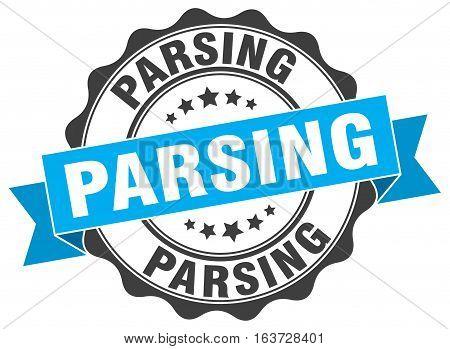 parsing. stamp. sign. seal. round. retro. ribbon