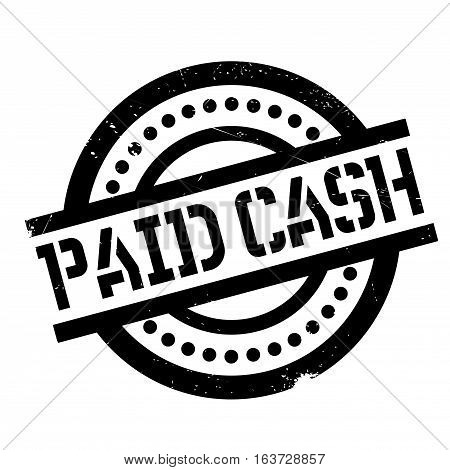 Paid Cash rubber stamp. Grunge design with dust scratches. Effects can be easily removed for a clean, crisp look. Color is easily changed.