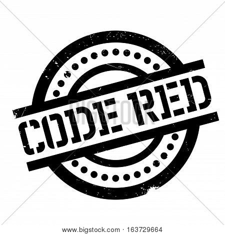 Code Red rubber stamp. Grunge design with dust scratches. Effects can be easily removed for a clean, crisp look. Color is easily changed.