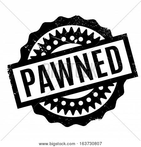 Pawned rubber stamp. Grunge design with dust scratches. Effects can be easily removed for a clean, crisp look. Color is easily changed.