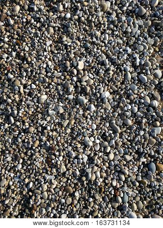 Interesting Colourful Rounded Pebble Background Tranquil Beach