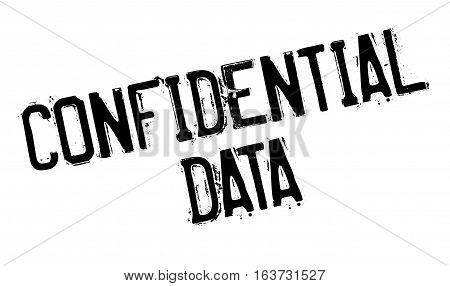 Confidential Data rubber stamp. Grunge design with dust scratches. Effects can be easily removed for a clean, crisp look. Color is easily changed.