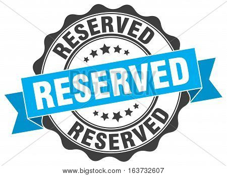 reserved. stamp. sign. seal. round. retro. ribbon