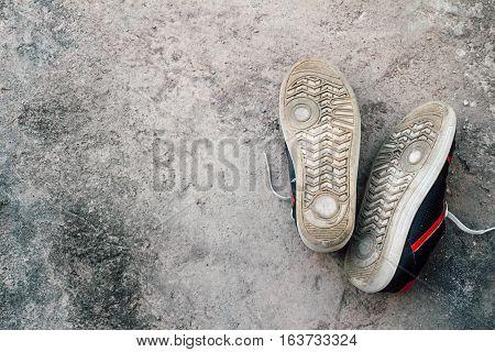 shoes on floor sleep relax feeling in holiday