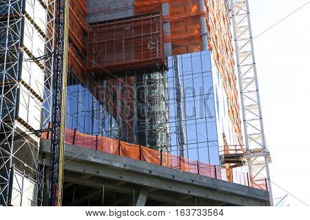 Building under construction in New York City