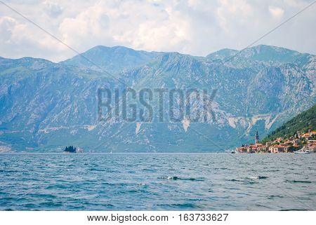 Coast Town Of Perast In Picturesque Montenegro.